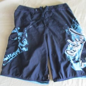 Quick Silver Board Shorts Size 34